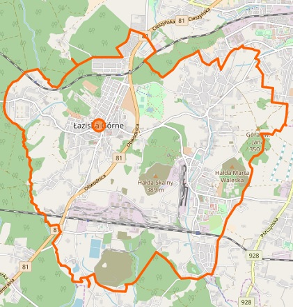 Łaziska Górne - plan miasta