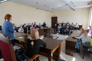 Spotkanie profilaktyczne w mikołowskim sądzie