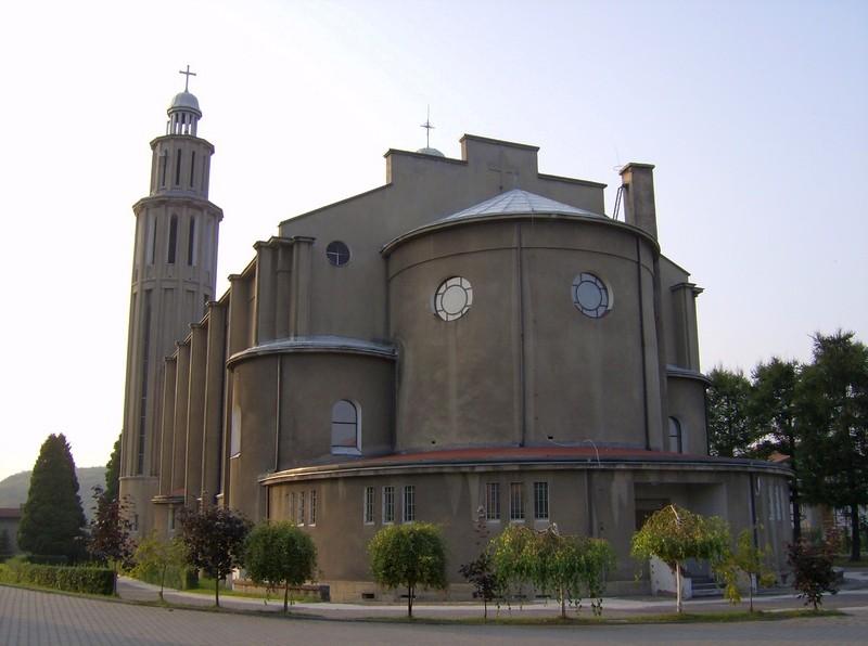 Łaziska Średnie - Kościół pw. Męczeństwa Św. Jana Chrzciciela