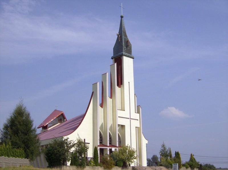 Łaziska Dolne - Kościół pw. Niepokalanego Serca Najświętszej Maryi Panny